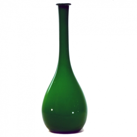 green glass vase, SOLD