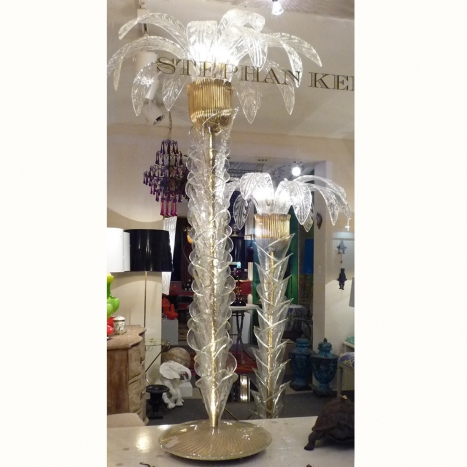 palm floor lamps, vintage murano glass