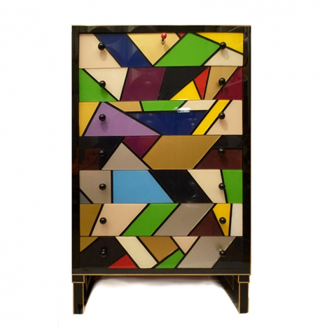 chest of drawers, multicolour