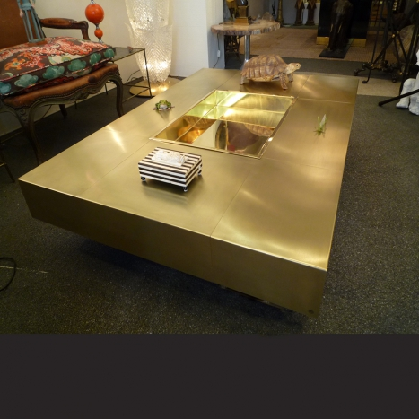 brass coffee table,