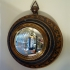 antique convex mirror, france, 19th c.