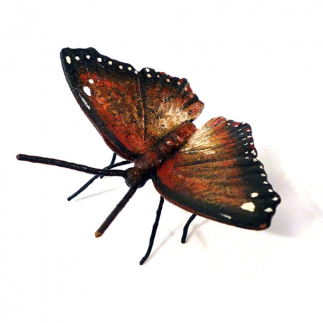 brown butterfly, hand painted