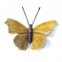 small yellow butterfly, hand painted