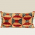 ikat cushion, red-blue-beige graphic