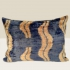 ikat cushion, blue-beige heart