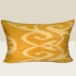 ikat cushion, yellow-beige