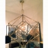 brass chandelier, cubes