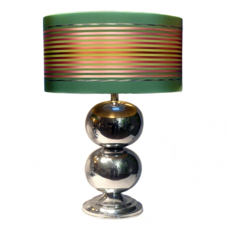 chrome table lamp, SOLD