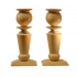 candle holders, ivory