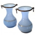 pair of vases, opaline glass