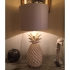 pair of pineapple lamps, ceramic