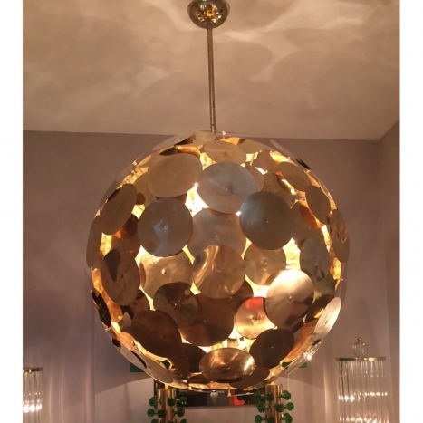 brass chandelier,