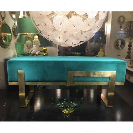 brass bench,