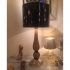 vintage murano glass, table lamp