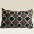 ikat cushion, petrol-beige-black-red