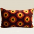 ikat cushion, brown-yellow-red